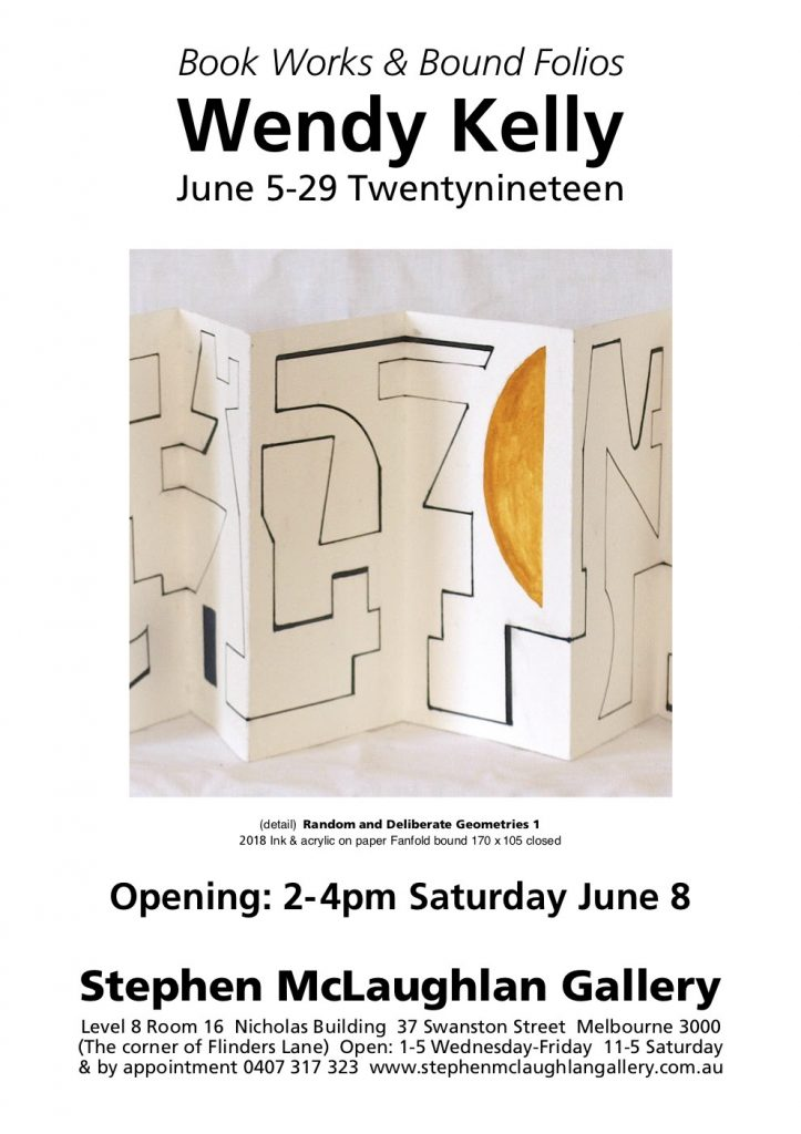 Flyer for Wendy Kelly art exhibition